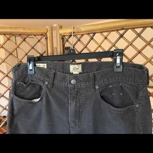 J. Crew Men's Gray Corduroy 770 Jeans
